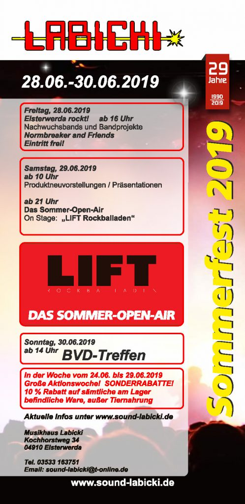 Sommerfest 2019 Flyer Seite 1